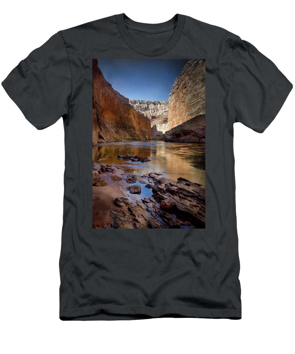 Grand Canyon Men's T-Shirt (Athletic Fit) featuring the photograph Deep Inside The Grand Canyon by Ellen Heaverlo