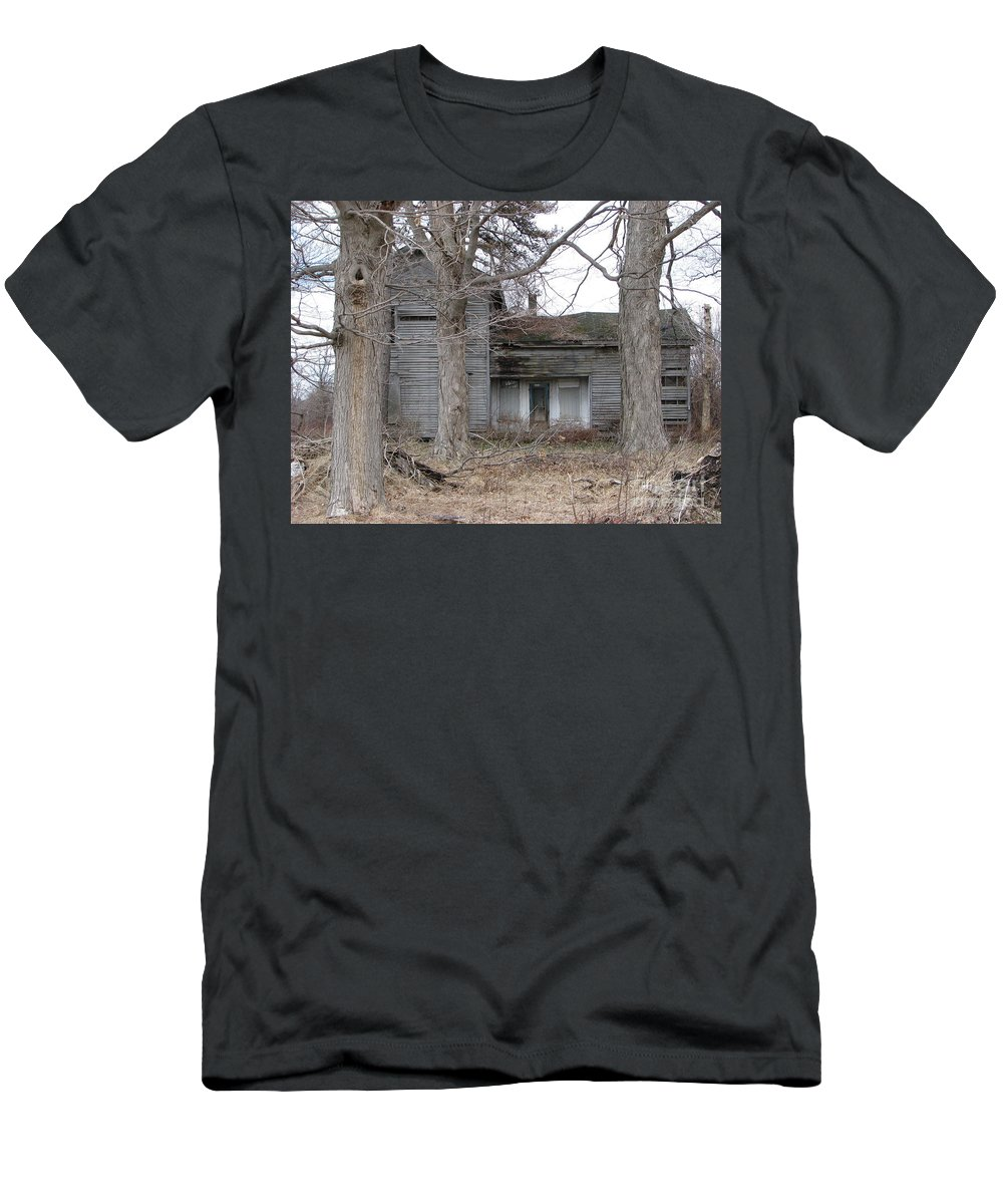 Defunct House Men's T-Shirt (Athletic Fit) featuring the photograph Defunct House by Michael Krek