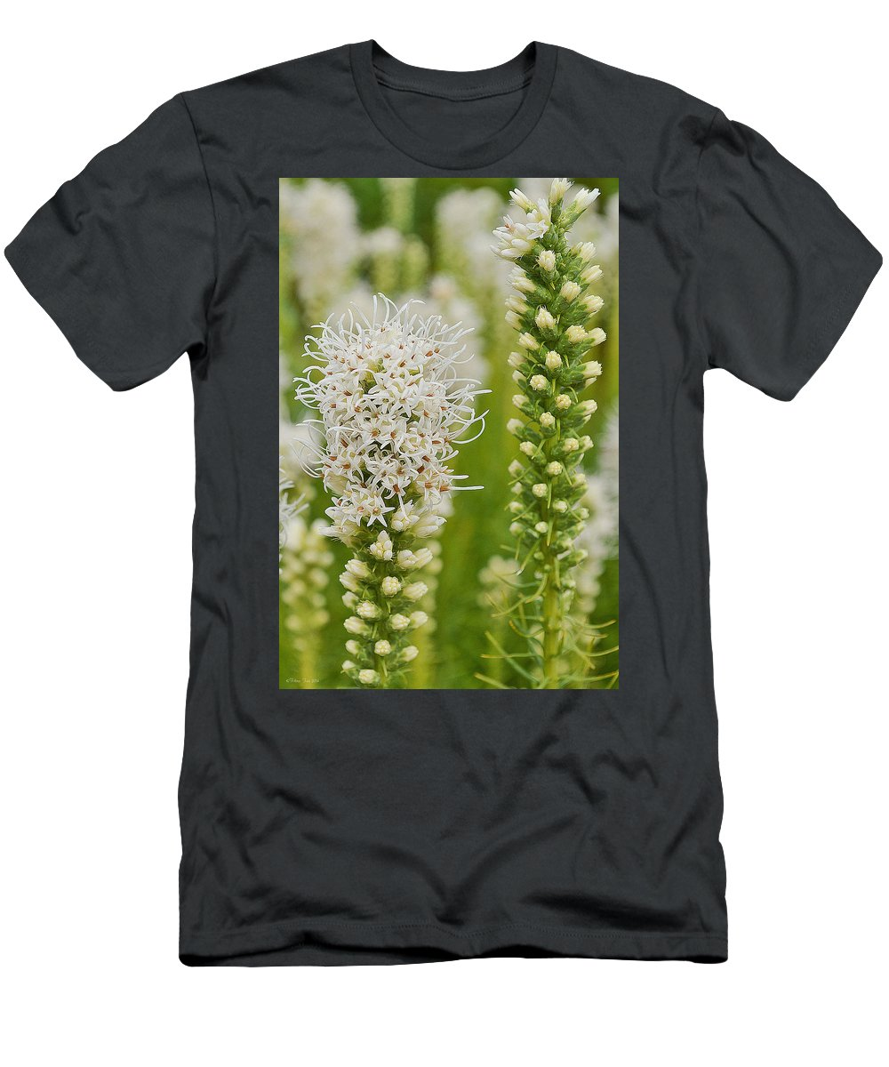 White Men's T-Shirt (Athletic Fit) featuring the photograph Delicate White by Felicia Tica