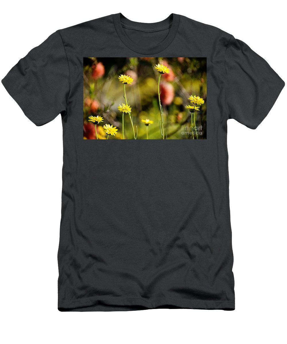 Yewkwang Men's T-Shirt (Athletic Fit) featuring the photograph Delightful Florets by Yew Kwang