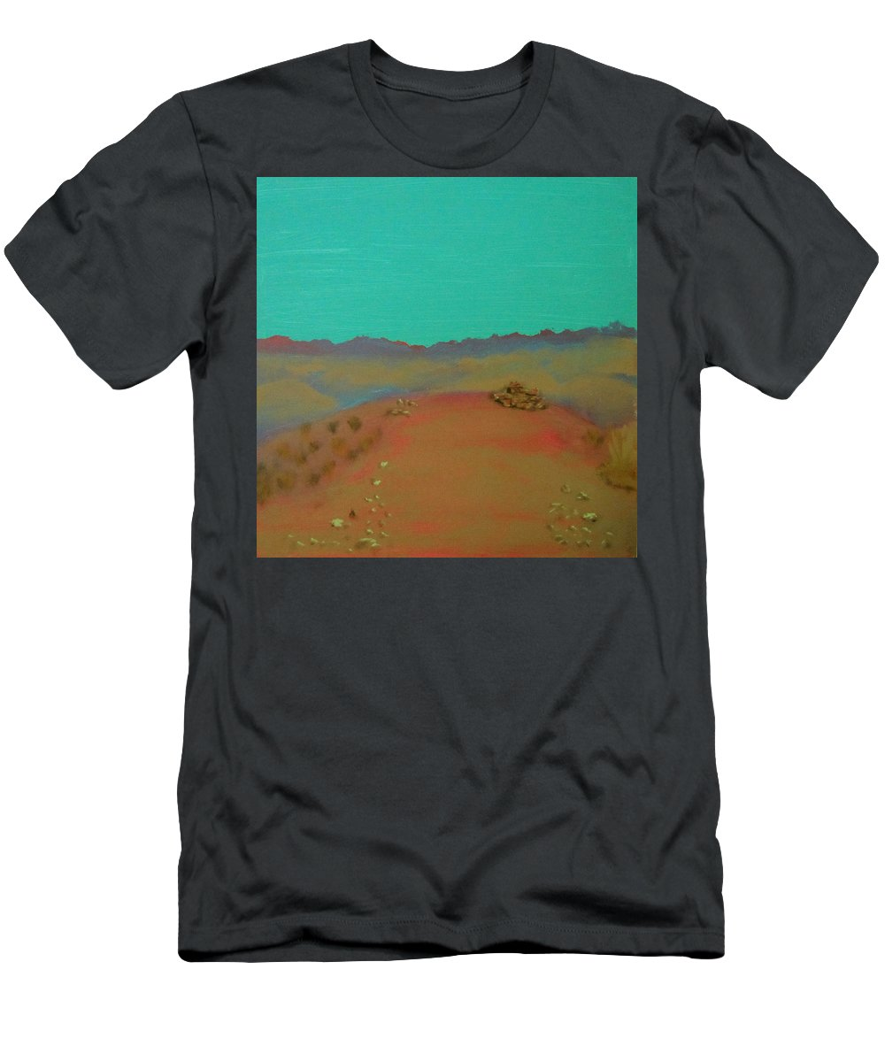 Southwest Men's T-Shirt (Athletic Fit) featuring the painting Desert Overlook by Keith Thue
