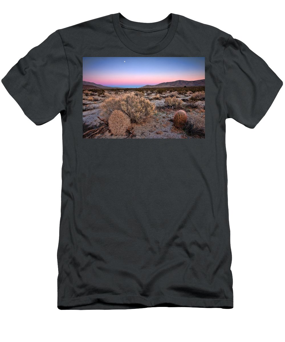 Anza-borrego Desert Men's T-Shirt (Athletic Fit) featuring the photograph Desert Twilight by Peter Tellone