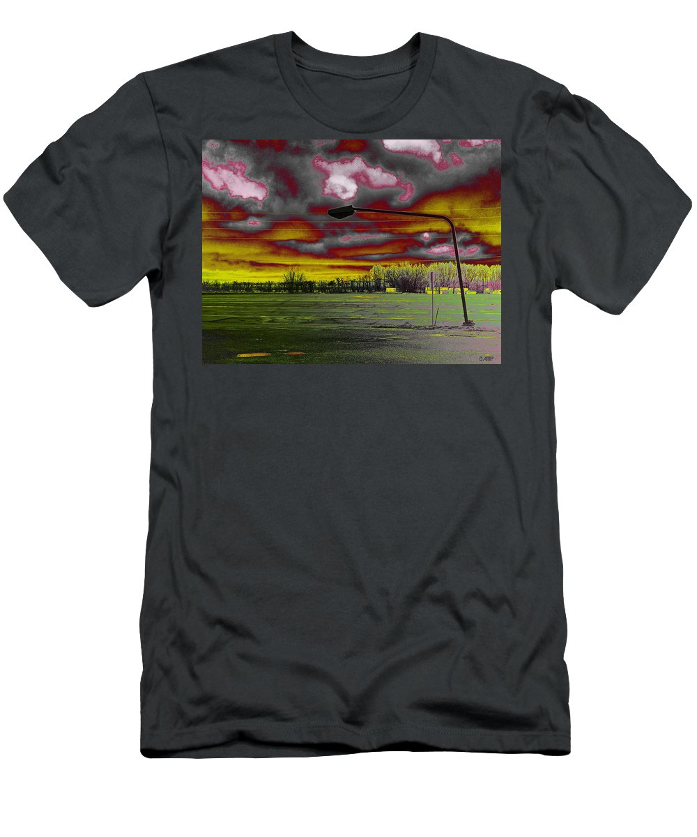 Lamp Post Men's T-Shirt (Athletic Fit) featuring the photograph Desolation by David Pantuso
