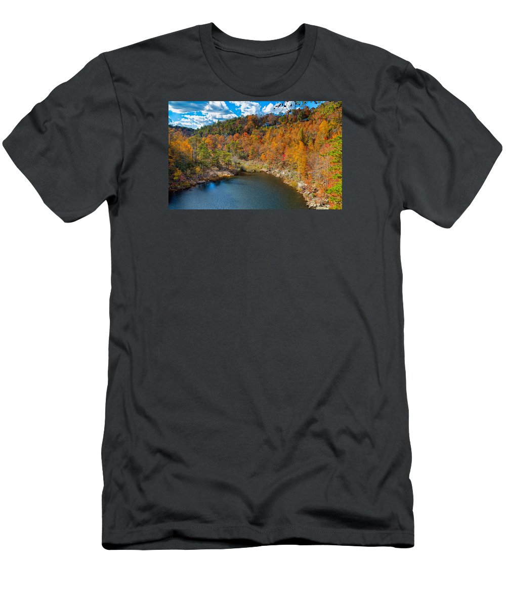 Landscape T-Shirt featuring the photograph Desoto Falls State Park by John M Bailey