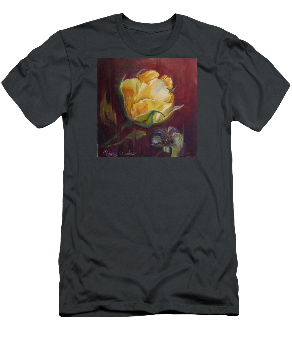 Rose T-Shirt featuring the painting Destiny by Mary Beglau Wykes