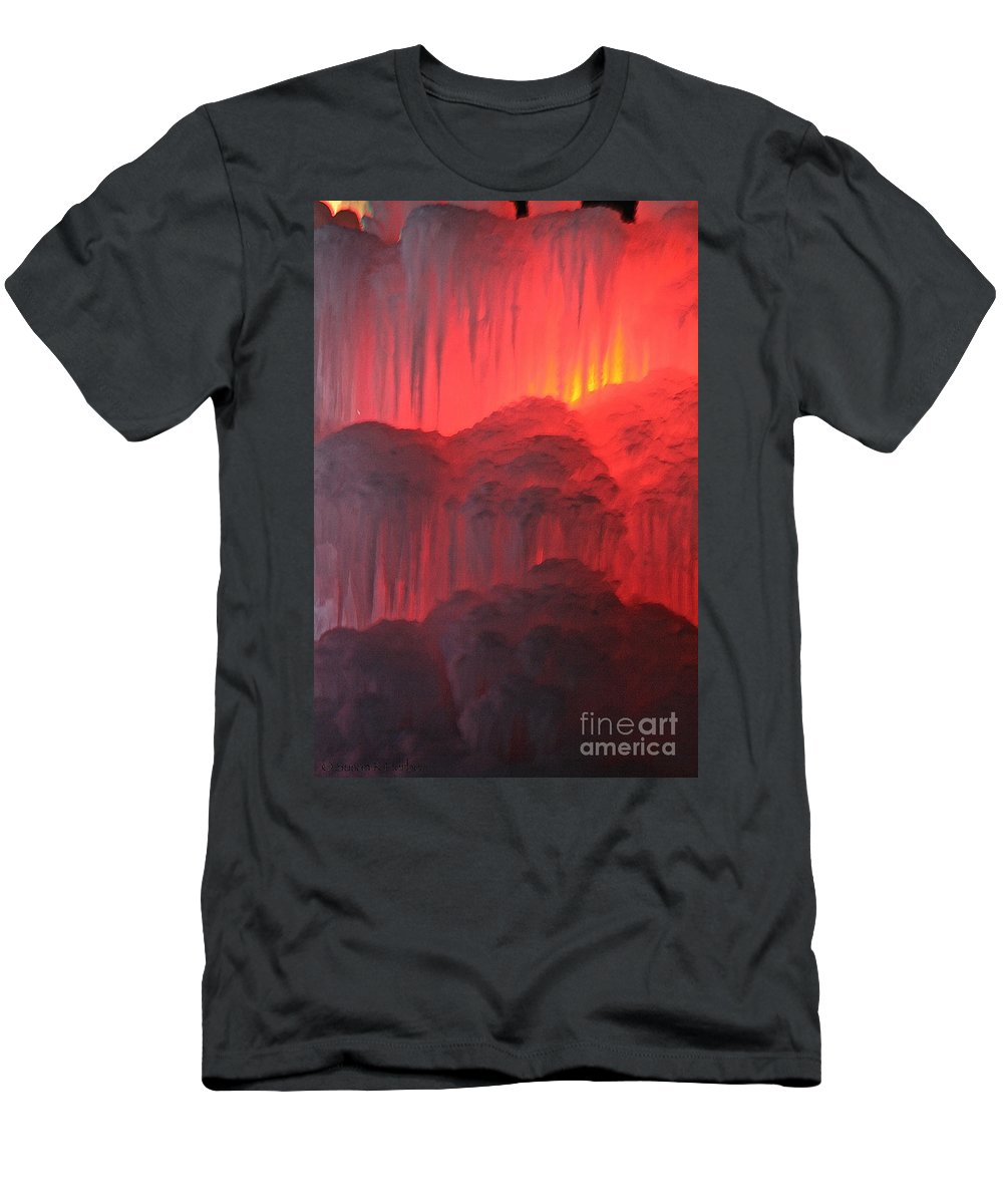 Ice Men's T-Shirt (Athletic Fit) featuring the photograph Devil's Hideout by Susan Herber
