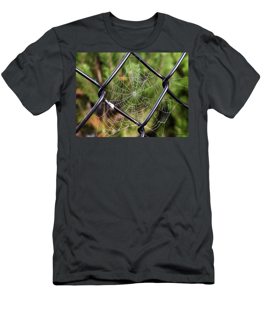 Landscape Men's T-Shirt (Athletic Fit) featuring the photograph Dew Drop In by Jo-Anne Gazo-McKim