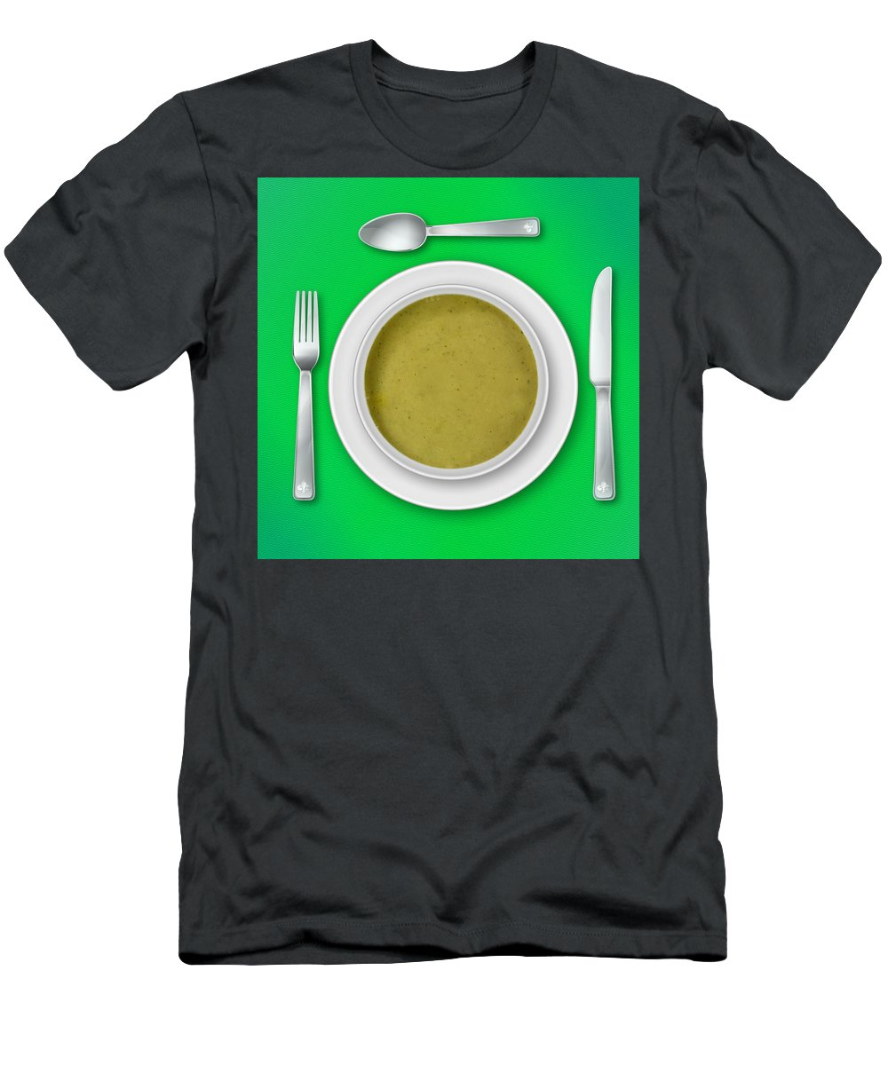 Green Men's T-Shirt (Athletic Fit) featuring the photograph Dinner Setting 06 by Jo Roderick