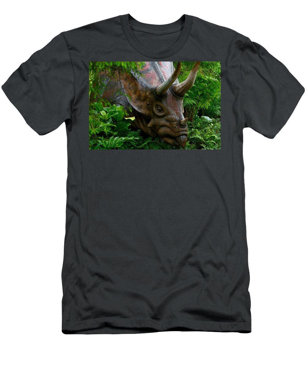 Dinosaur Men's T-Shirt (Athletic Fit) featuring the photograph Dino In The Bronx Five by Alice Gipson