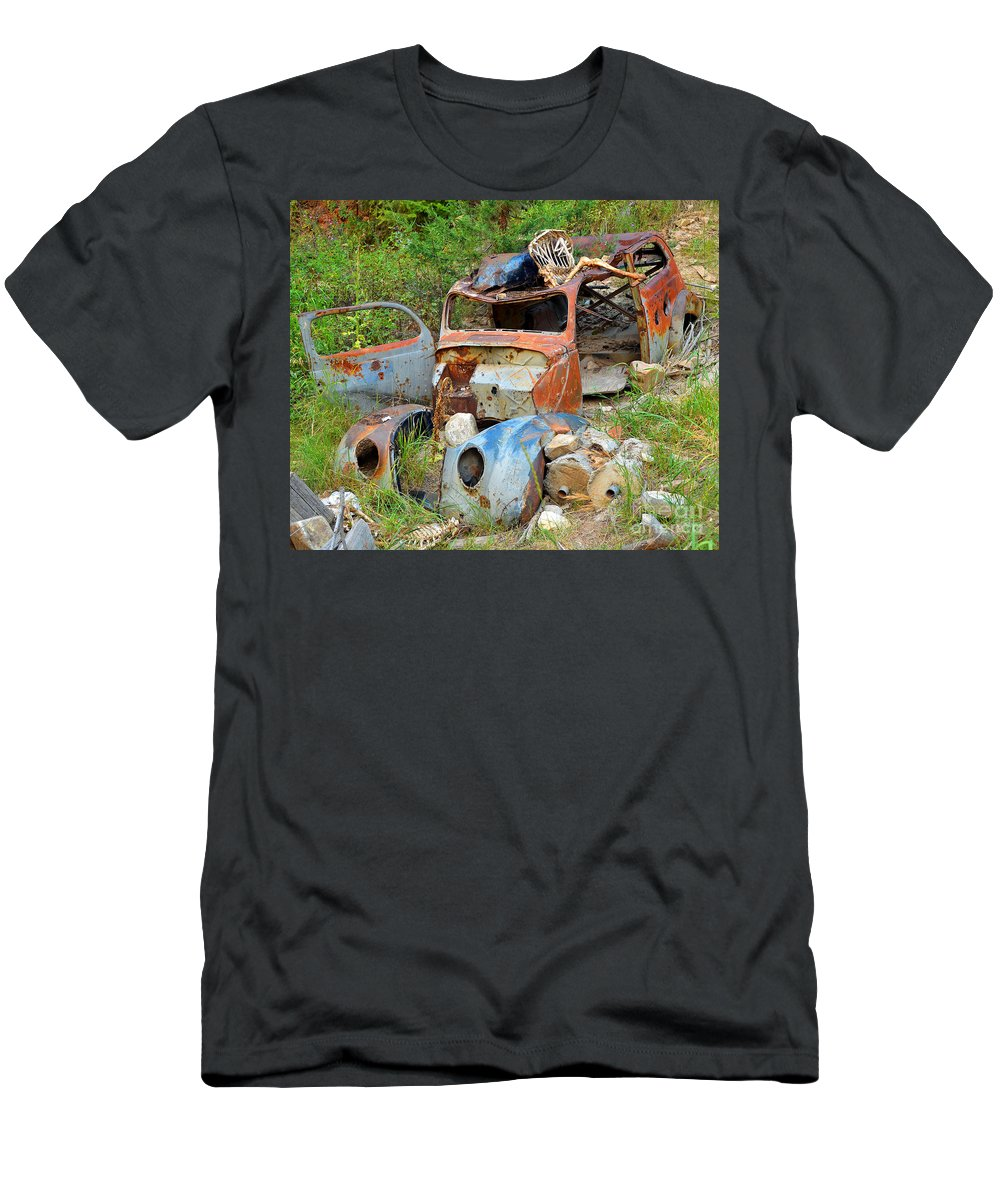 Abstract Men's T-Shirt (Athletic Fit) featuring the photograph Disaster by Lauren Leigh Hunter Fine Art Photography