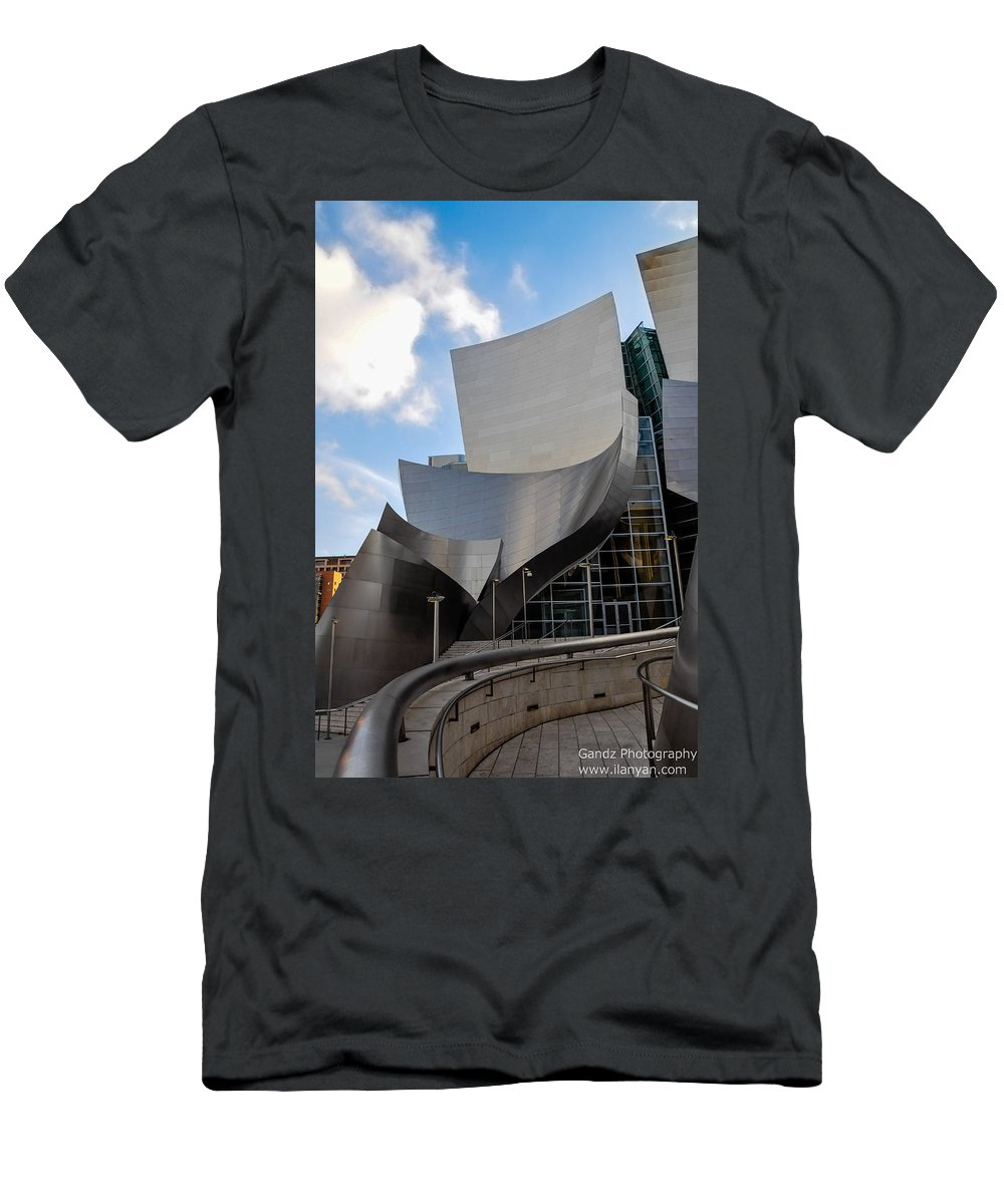California Men's T-Shirt (Athletic Fit) featuring the photograph Disney Hall by Gandz Photography