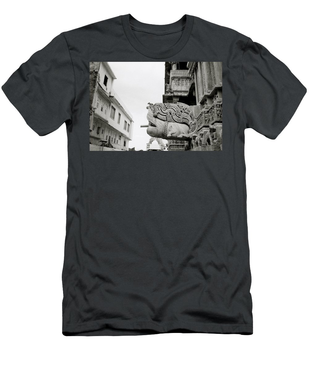 Jagdish Men's T-Shirt (Athletic Fit) featuring the photograph Divine Jagdish Temple by Shaun Higson