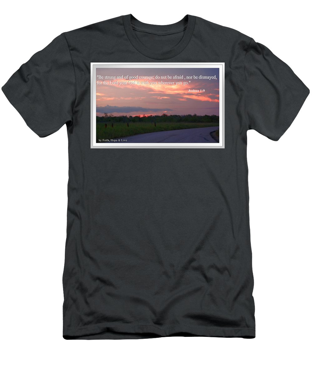 Road Men's T-Shirt (Athletic Fit) featuring the photograph Do Not Be Afraid by Leticia Latocki
