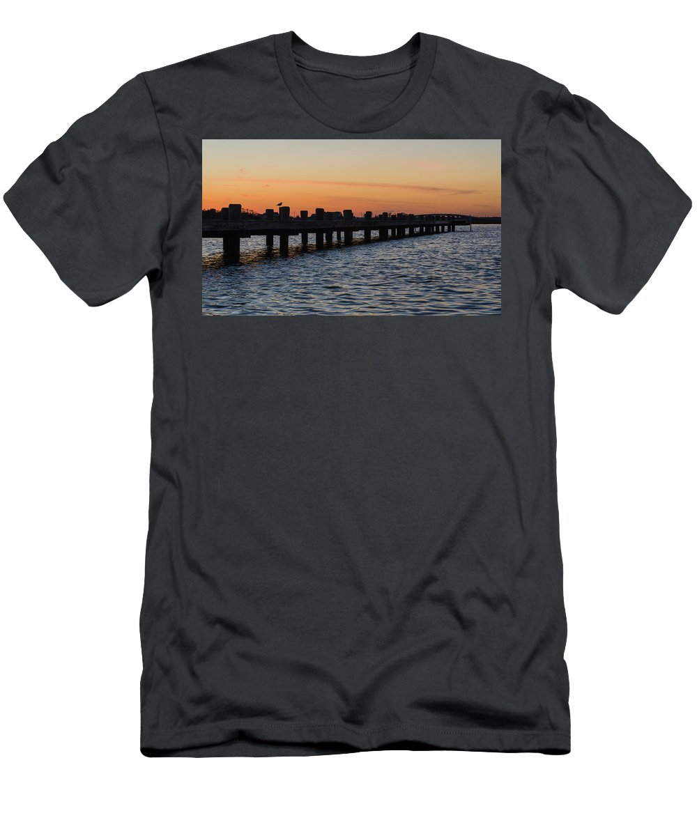 New Jersey Men's T-Shirt (Athletic Fit) featuring the photograph Dock Side by Kristopher Schoenleber