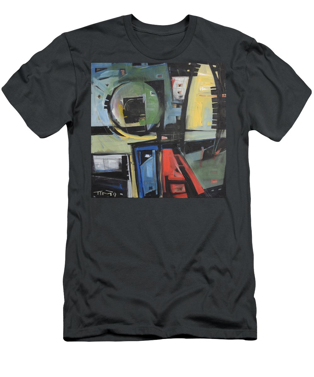 Abstract Men's T-Shirt (Athletic Fit) featuring the painting Dockside by Tim Nyberg