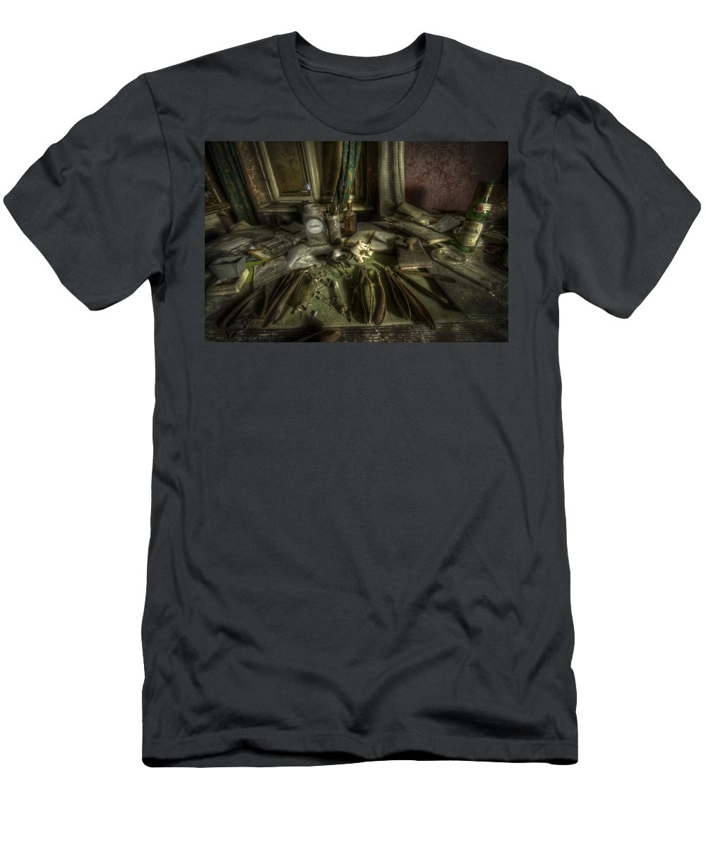 Doctor Men's T-Shirt (Athletic Fit) featuring the digital art Doctor Death by Nathan Wright