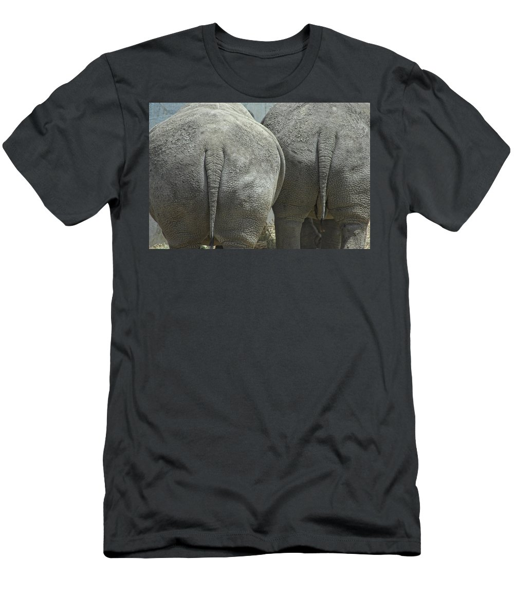 Animal Men's T-Shirt (Athletic Fit) featuring the photograph Does My Butt Look Big by Donna Blackhall