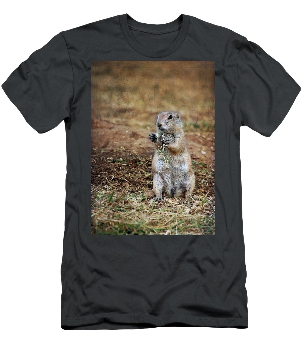 Doggie Snack Men's T-Shirt (Athletic Fit) featuring the photograph Doggie Snack by Jemmy Archer