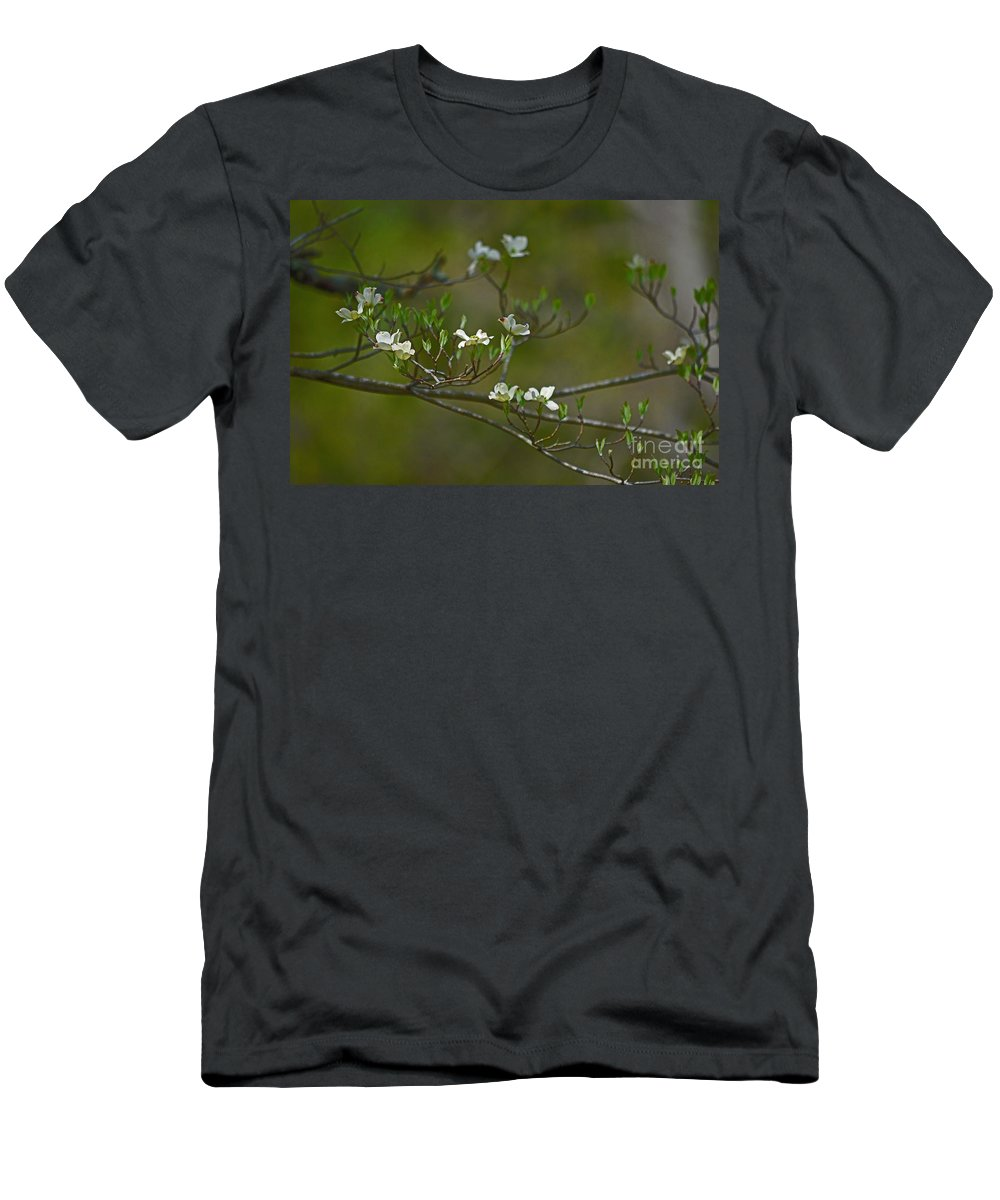 Dogwood Men's T-Shirt (Athletic Fit) featuring the photograph Dogwood I by Karin Everhart