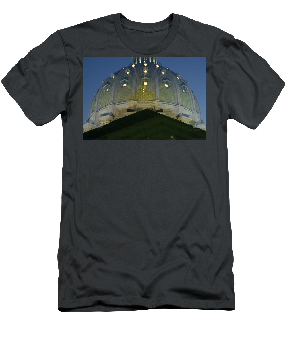 Dome Men's T-Shirt (Athletic Fit) featuring the photograph Dome In A Dome  # by Rob Luzier