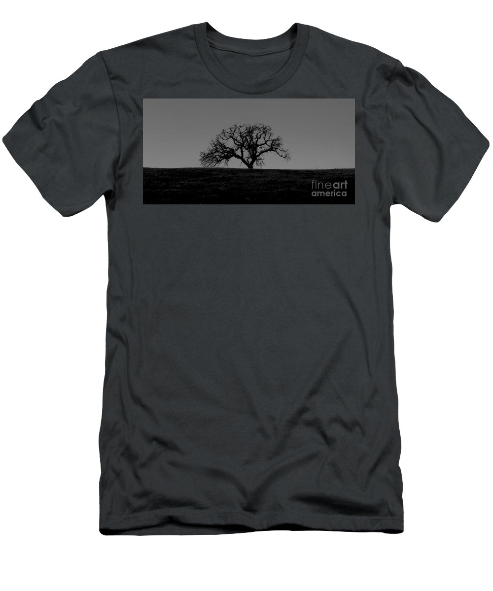 Dormant Men's T-Shirt (Athletic Fit) featuring the photograph Dormant Tree On Hill by B Christopher