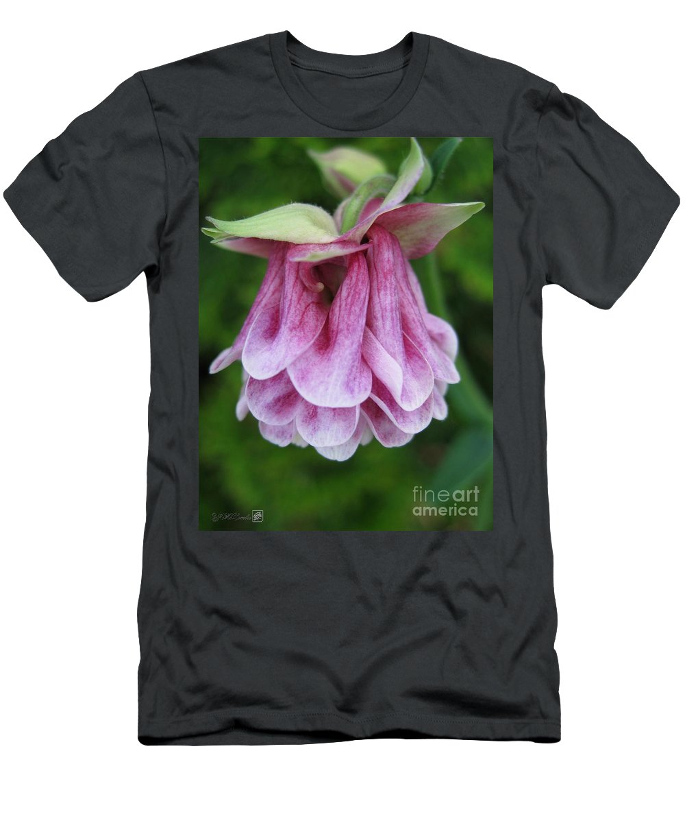 Mccombie Men's T-Shirt (Athletic Fit) featuring the photograph Double Columbine Named Pink Tower by J McCombie