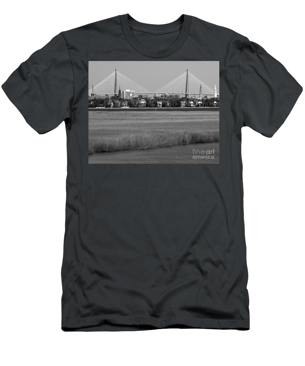 Downtown Marsh Men's T-Shirt (Athletic Fit) featuring the photograph Downtown Marsh by Melody Jones