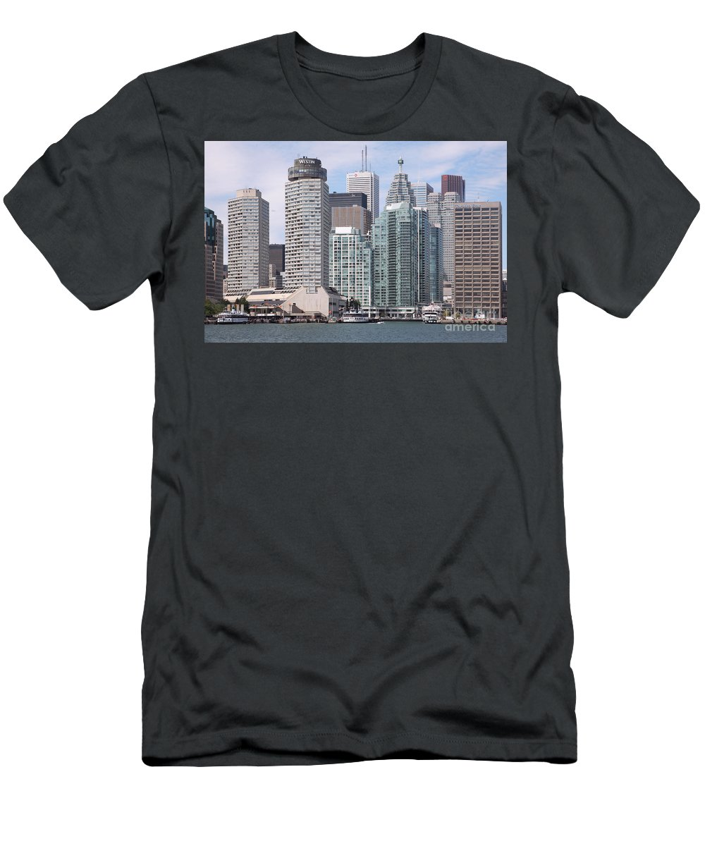 Scotia Plaza Men's T-Shirt (Athletic Fit) featuring the photograph Downtown Toronto Ontario by Bill Cobb