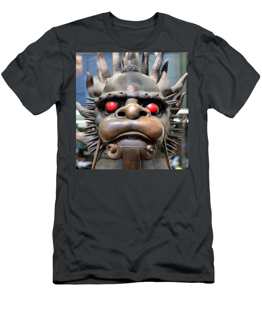 Dragon Men's T-Shirt (Athletic Fit) featuring the photograph Dragon Face by David Lee Thompson
