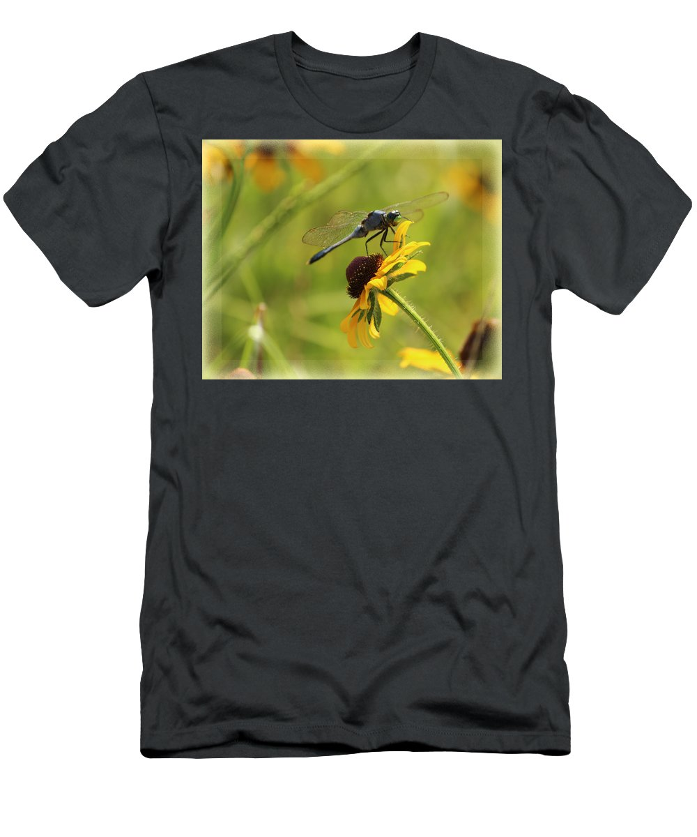 Dragonfly Men's T-Shirt (Athletic Fit) featuring the photograph Dragonfly by Karen Beasley
