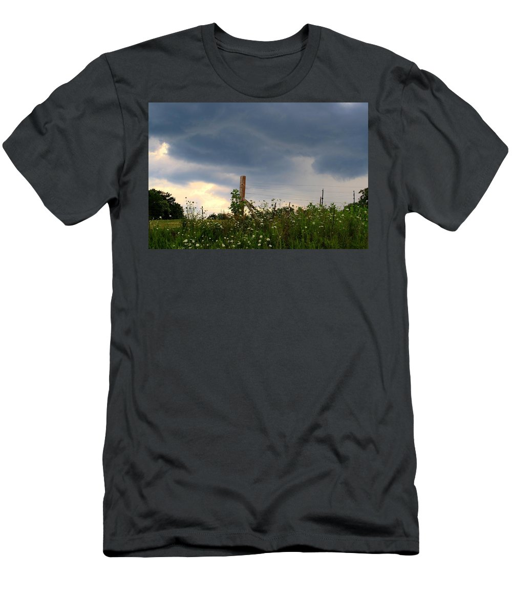Thunderstorm Men's T-Shirt (Athletic Fit) featuring the photograph Dramatic Skies by Kathryn Meyer