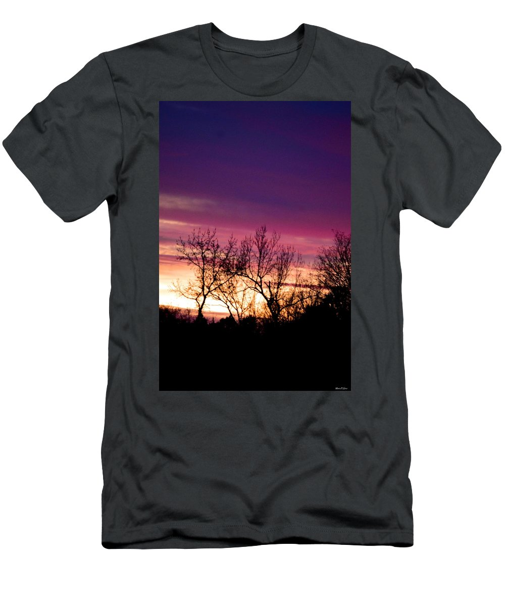 Dramatic Sunrise-l Men's T-Shirt (Athletic Fit) featuring the photograph Dramatic Sunrise-l by Maria Urso