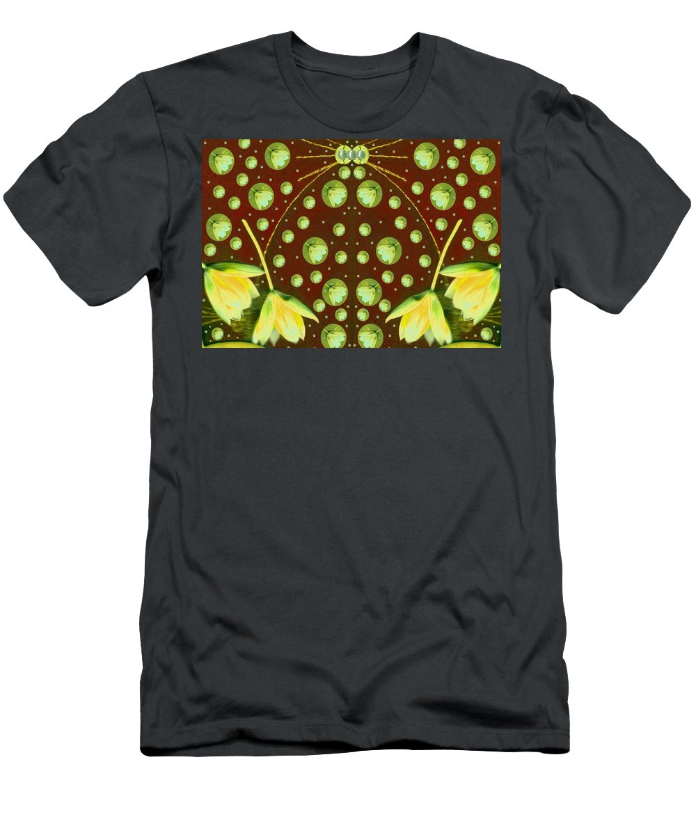 Floral Men's T-Shirt (Athletic Fit) featuring the mixed media Dream On by Pepita Selles
