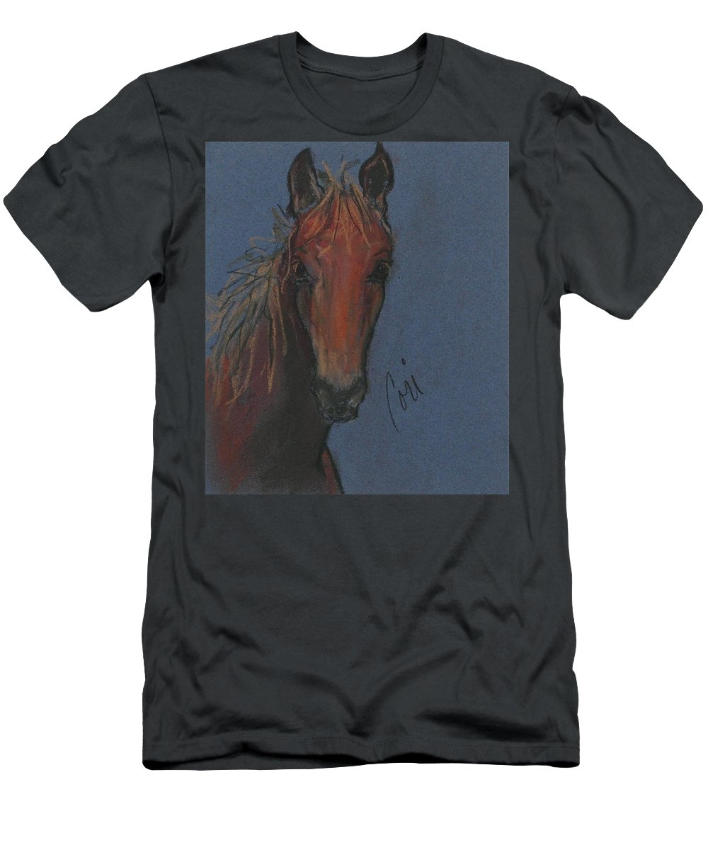 Horse Men's T-Shirt (Athletic Fit) featuring the drawing Dream Watcher by Cori Solomon