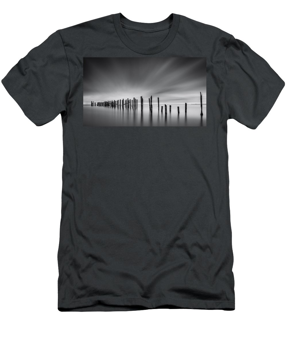 New York Men's T-Shirt (Athletic Fit) featuring the photograph Dreams Of Desolation by Mihai Andritoiu