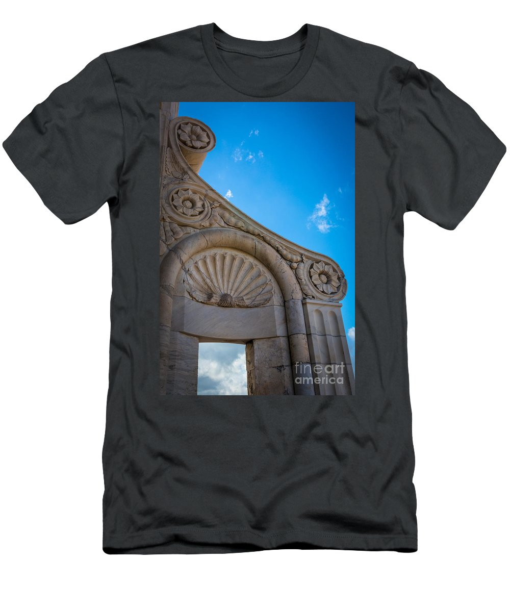 Duomo Men's T-Shirt (Athletic Fit) featuring the photograph Duomo Detail by Inge Johnsson