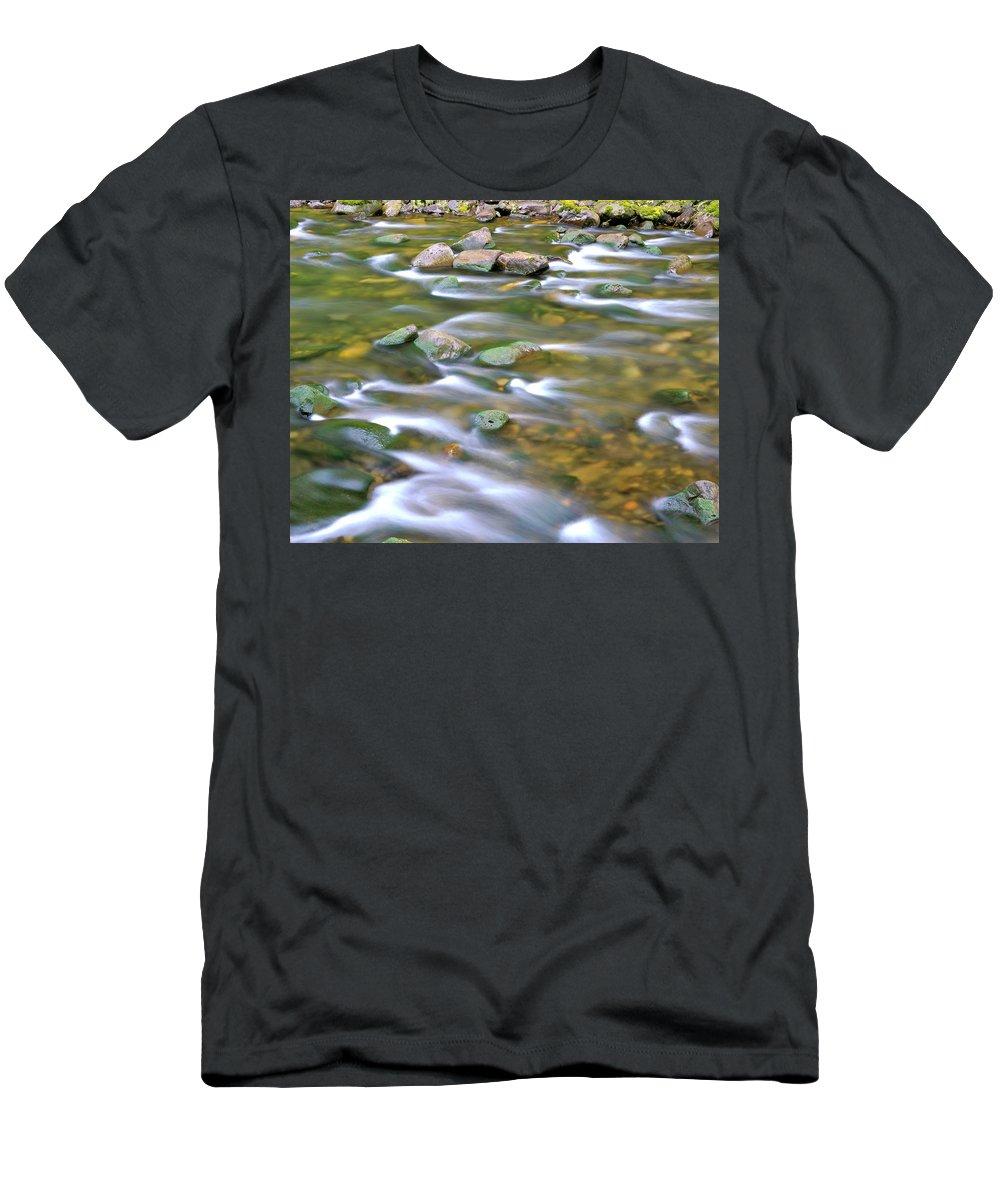 Eagle Creek Men's T-Shirt (Athletic Fit) featuring the photograph Eagle Creek Oregon by Ed Riche