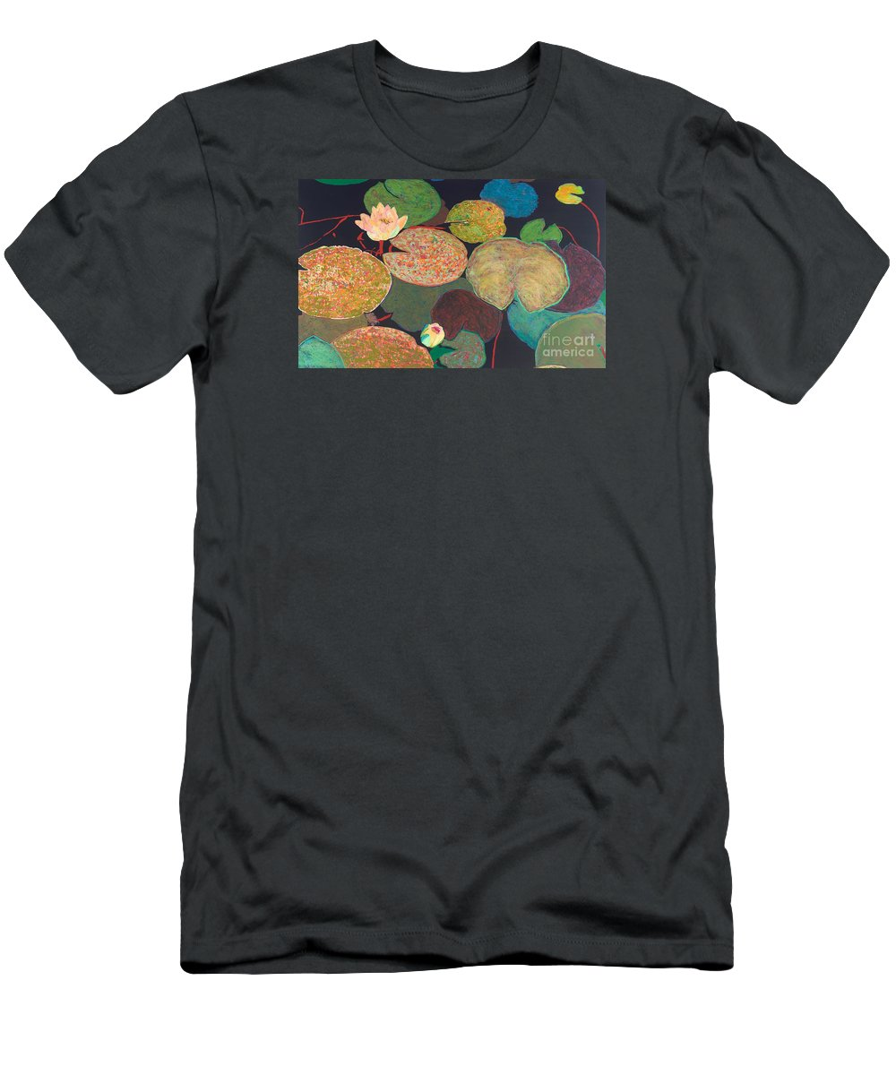 Landscape Men's T-Shirt (Athletic Fit) featuring the painting Early Mist by Allan P Friedlander