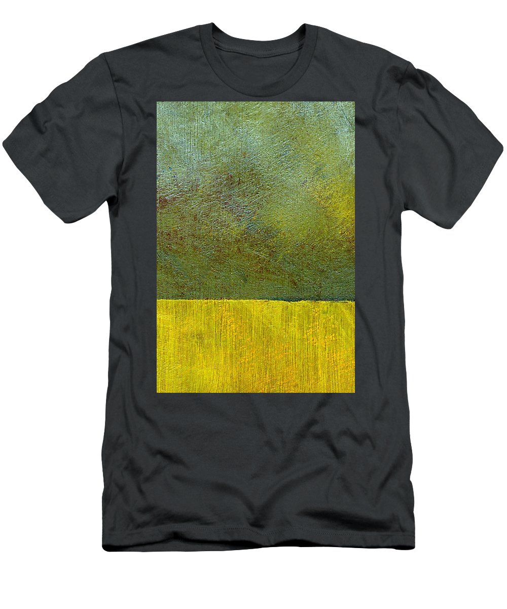 Abstract Landscape Men's T-Shirt (Athletic Fit) featuring the painting Earth Study Two by Michelle Calkins