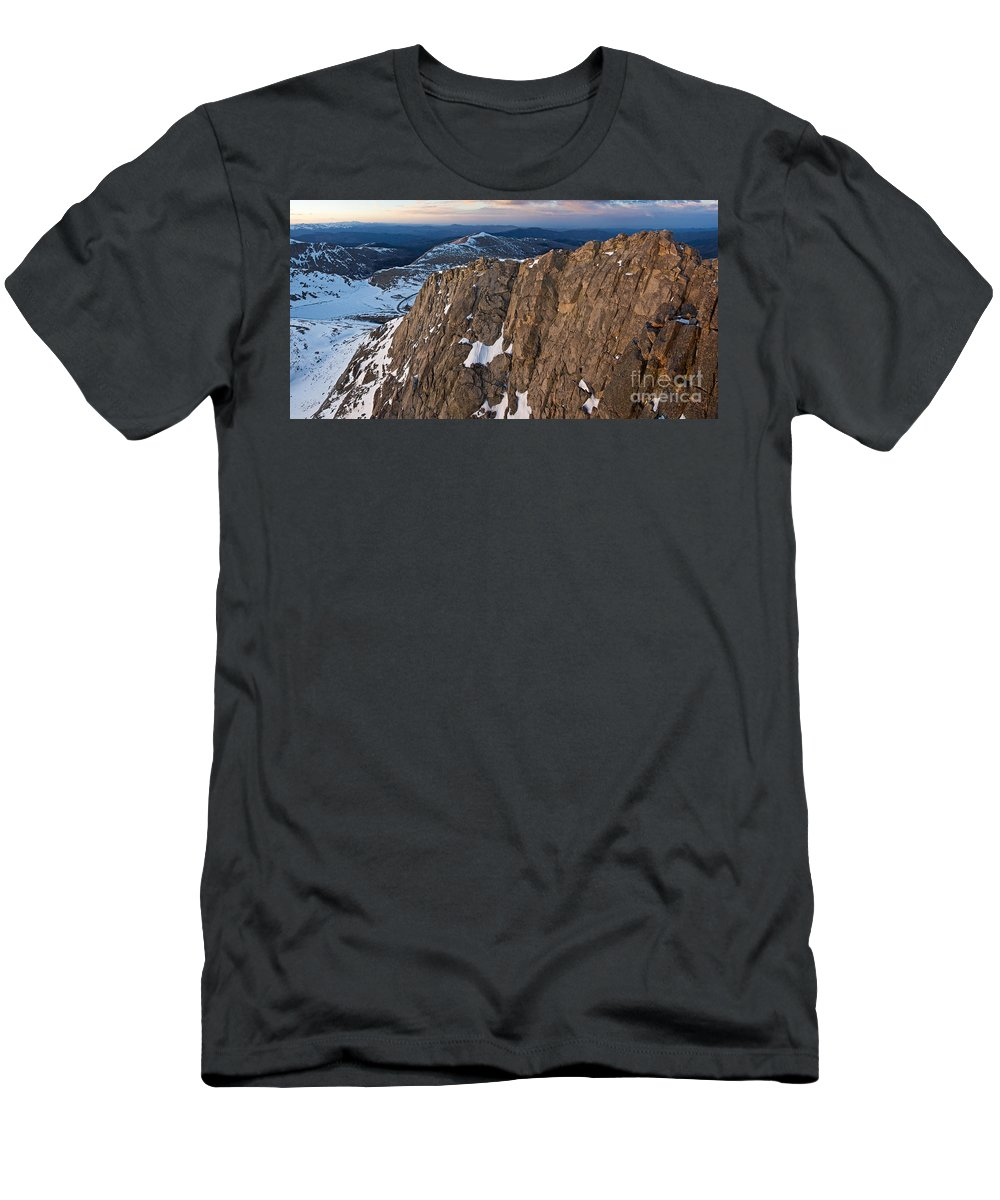 Mountain Men's T-Shirt (Athletic Fit) featuring the photograph East From Mt. Evans by Benjamin Reed