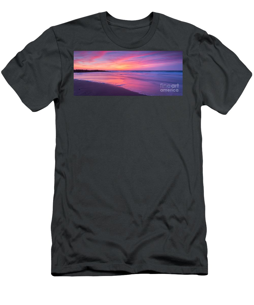 New Jersey Sunrise Landscape Men's T-Shirt (Athletic Fit) featuring the photograph Easter Sunday Sunrise 16x7 by Michael Ver Sprill