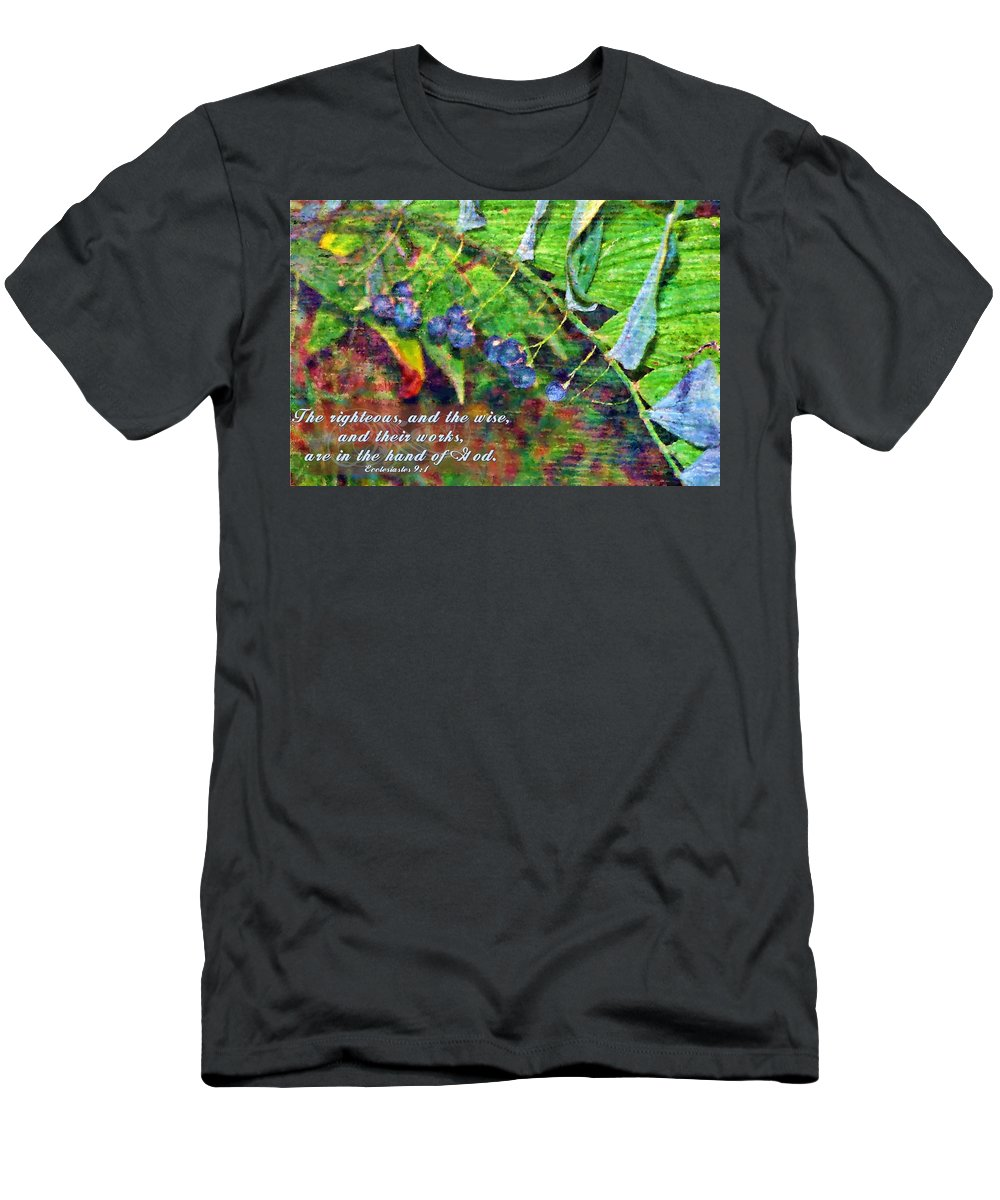 Jesus Men's T-Shirt (Athletic Fit) featuring the digital art Ecclesiastes 9 1 by Michelle Greene Wheeler