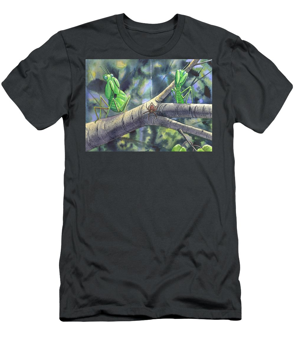 Mantis Men's T-Shirt (Athletic Fit) featuring the painting EEK by Catherine G McElroy