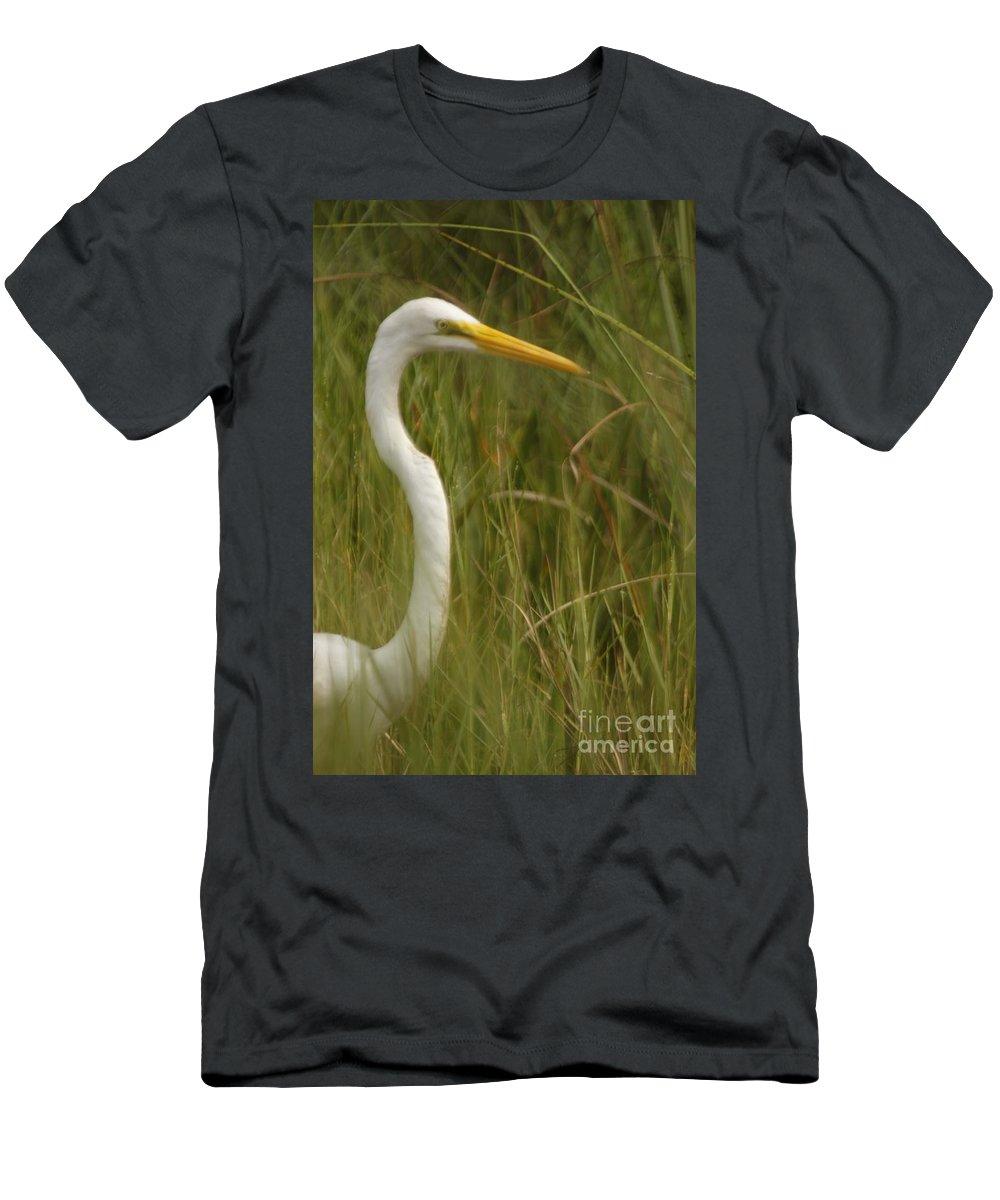 Egret Men's T-Shirt (Athletic Fit) featuring the photograph Egret by Christina Gupfinger