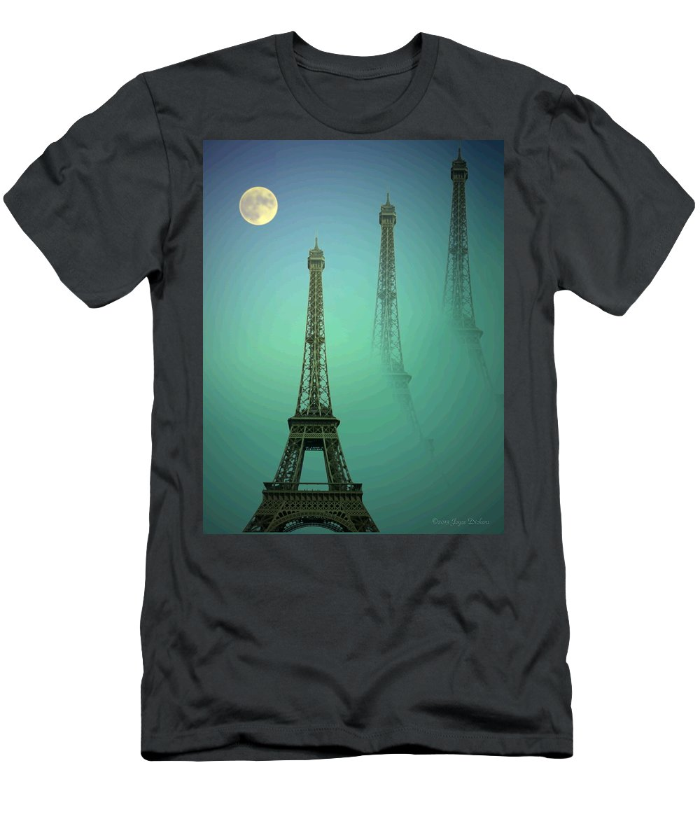 Eiffe-tower Men's T-Shirt (Athletic Fit) featuring the photograph Eiffel Tower by Joyce Dickens