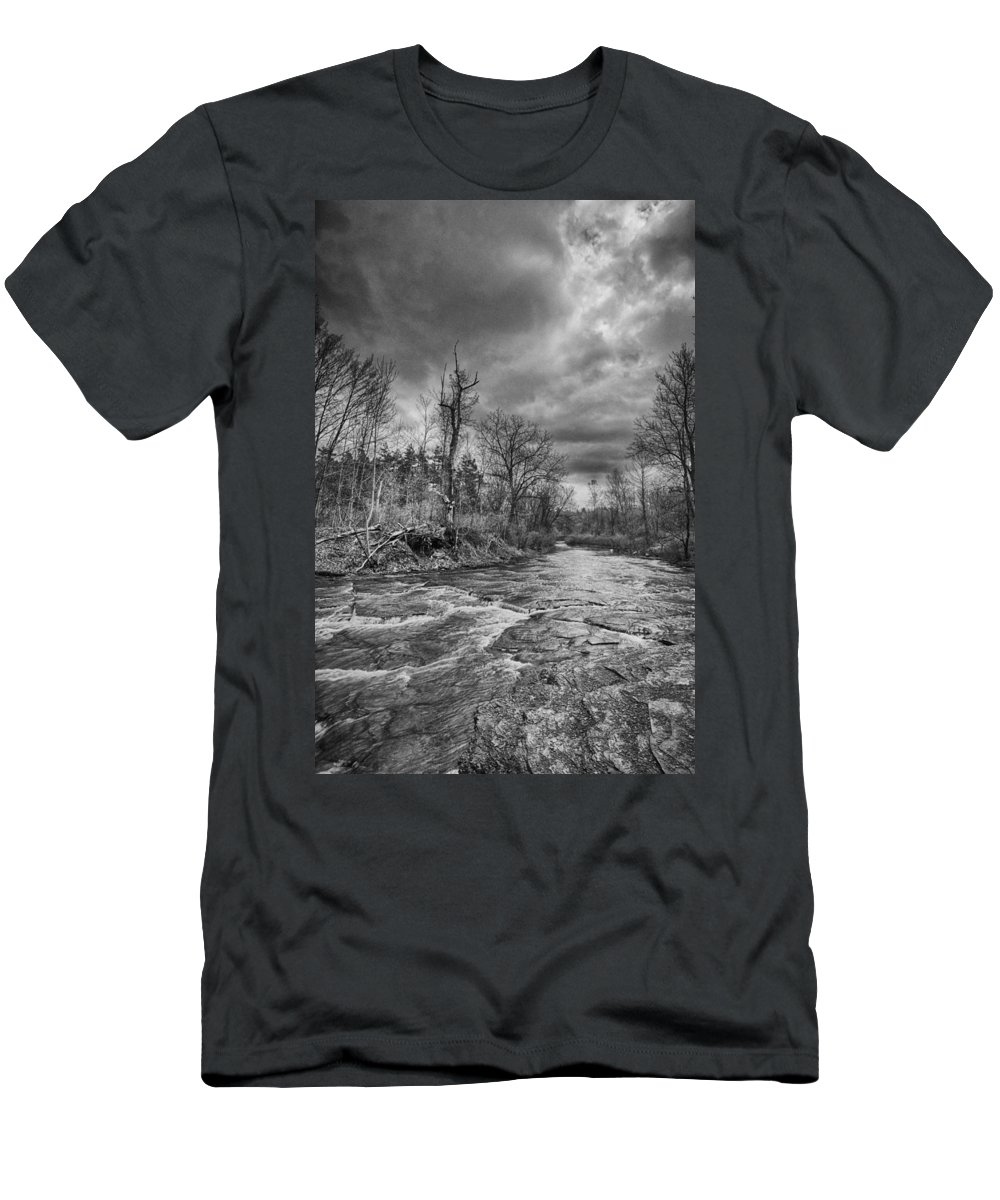 Clarksburg Men's T-Shirt (Athletic Fit) featuring the photograph Eighteenmile Creek 1835b by Guy Whiteley