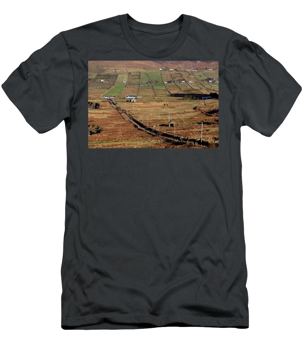 Ireland Men's T-Shirt (Athletic Fit) featuring the photograph Electric Landscape by Aidan Moran