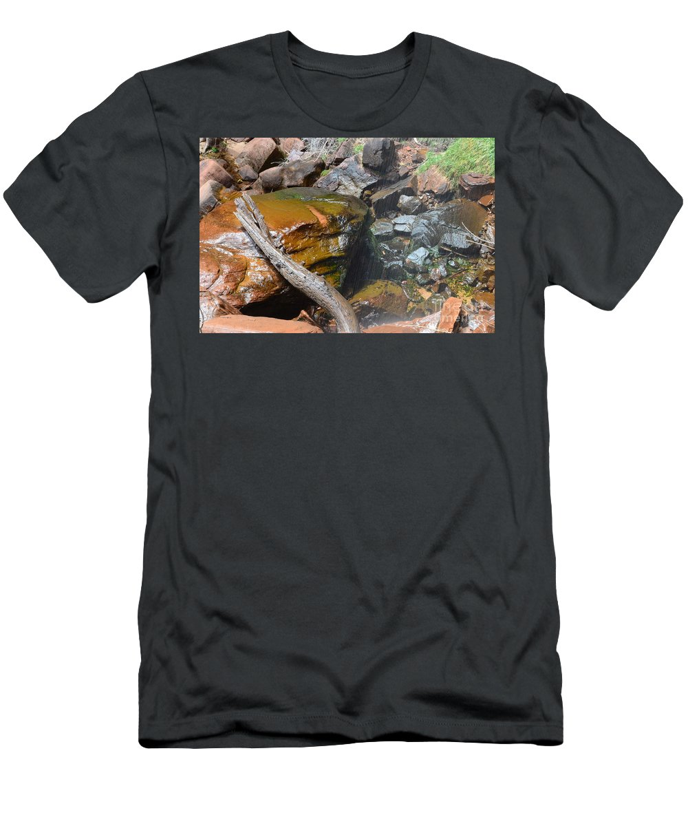 Upper Emerald Pools Men's T-Shirt (Athletic Fit) featuring the photograph Emerald Pools Close Up by Rincon Road Photography By Ben Petersen
