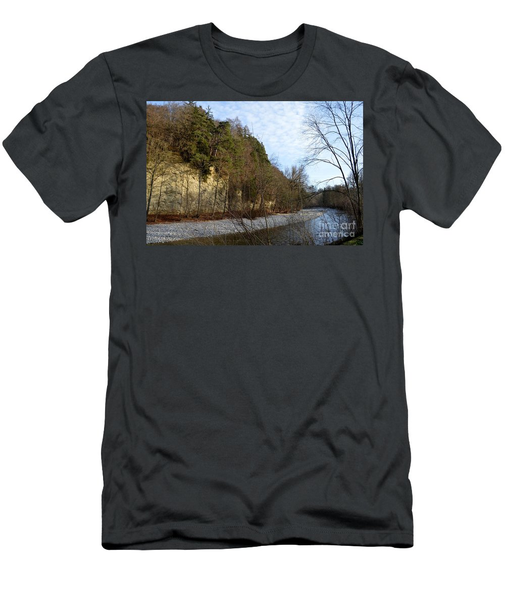 Landscape Men's T-Shirt (Athletic Fit) featuring the photograph Emme's Valley by Felicia Tica