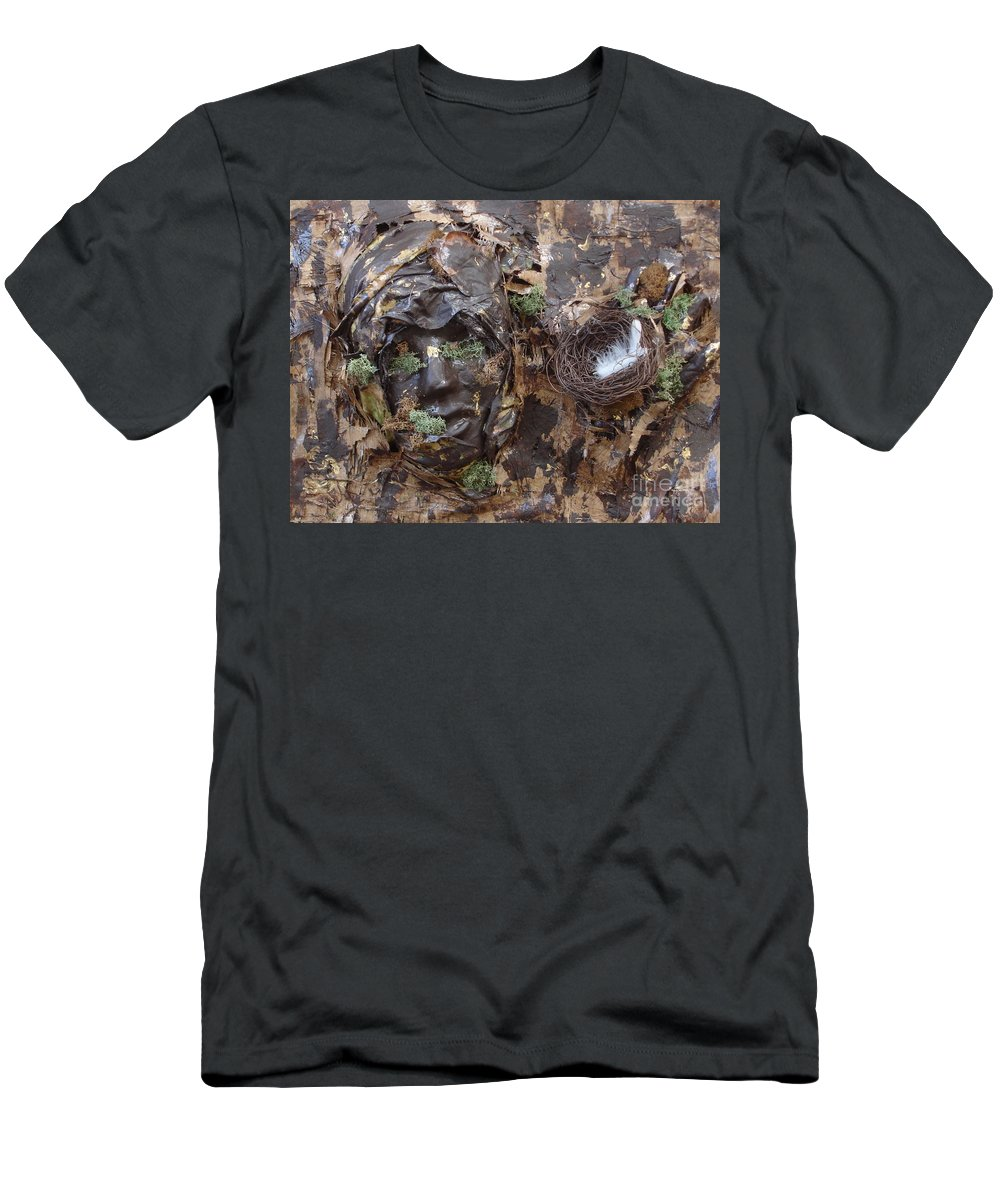 Empty Nest T-Shirt featuring the mixed media Empty Nest Always Welcome by Shelley Jones